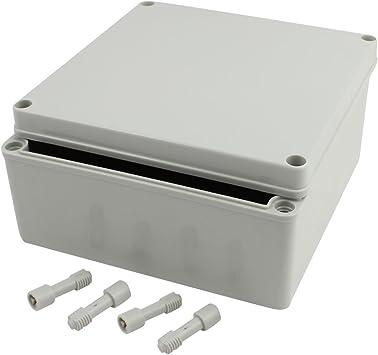Aexit 200 mm x 200 mm x 95 mm Caja de conexiones impermeable Caja ...