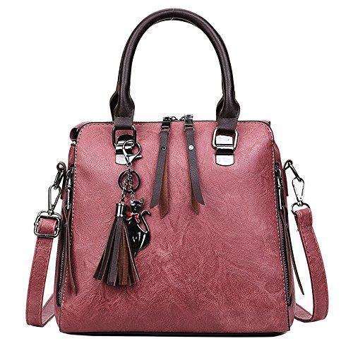 Meaeo Porté Nouveau Sac Marron Pink Femme Bandoulière Sac Simple Portable Épaule rrTUpqw