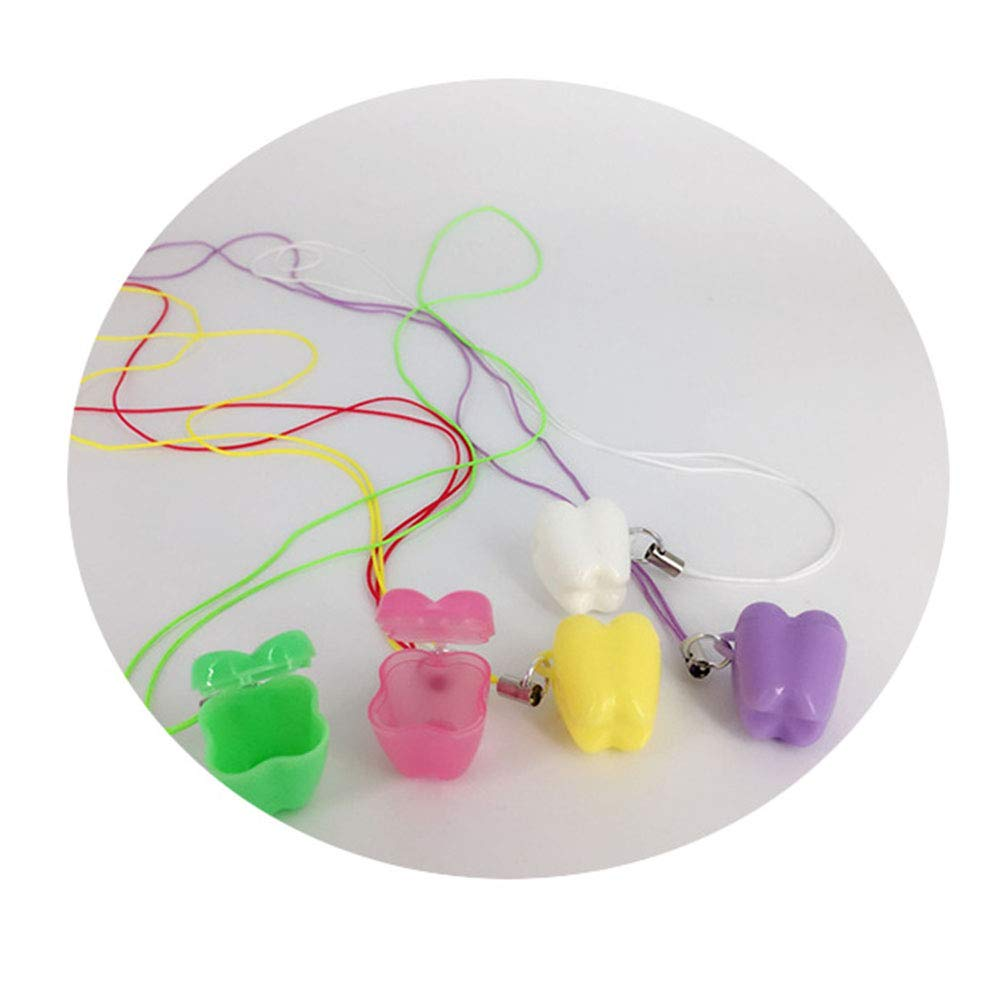 Moonvvin 50 St/ück Zahnform Milchz/ähne Box Kinder Souvenir Save Baby Tooth Box Kids Tooth Mini Aufbewahrungsboxen Farbe zuf/ällig