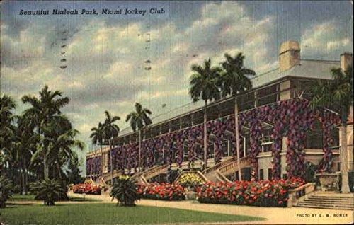 Miami Jockey Club, Beautiful Hialeah Park Miami, Florida Original Vintage Postcard
