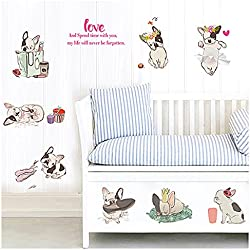 Lovely French Bulldog Wall Décor Stickers
