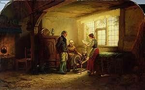 The letter, 1869(Oil On Canvas) (234228), Alu-Dibond, 50 x 30 cm