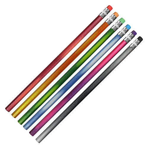 Color Changing Mood Sparkle Pencils, Set of 24, Assorted Colors