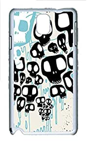 Abstract Vector Skulls Polycarbonate Hard Case Cover for Samsung Galaxy Note 3 N9000 White