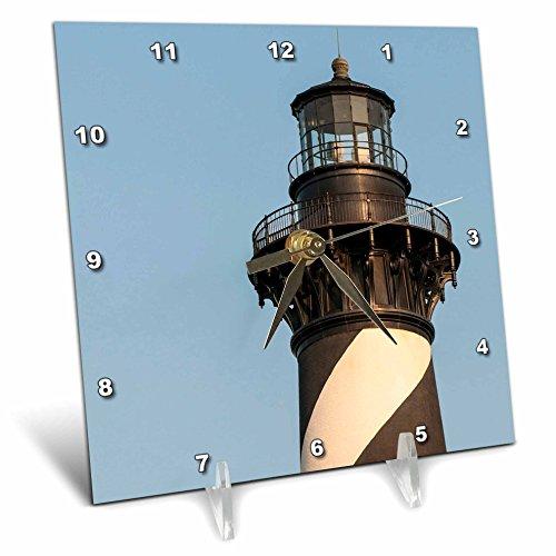 North Carolina Desk Clock - 3dRose Cape Light Station, Hatteras Island, North Carolina. Desk Clock, 6 x 6