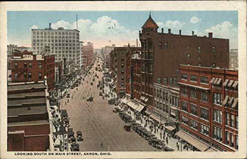 Looking South on Main Street Akron, Ohio OH Original Vintage Postcard 1922