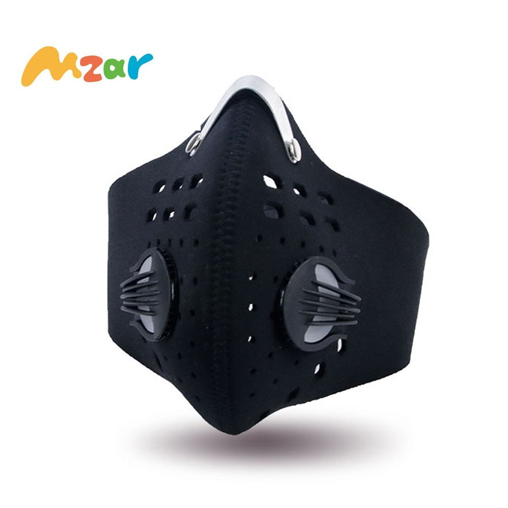 Dust Mask,Mzar Activated Carbon Anti Pollen Allergy PM2.5 Dustproof Face Mask with Filter Cotton Sheet and Valves for Running Cycling Outdoor Activities,Anti Pollution,Smoke,Exhaust Gas,Dust,Allergens