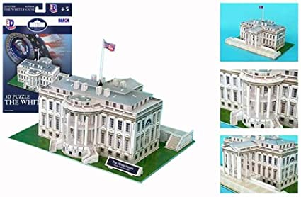 The White House 3D Puzzle, 64 Pieces Liberty Imports CF060H