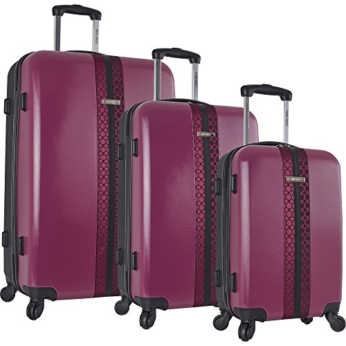 ninewest-time2fly-3-piece-hardside-luggage-set-berry