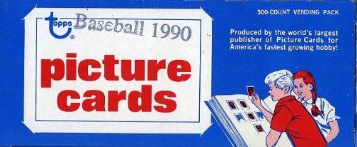 1990 Topps Baseball Cards Unopened Vending Box of 500 Car...