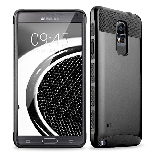 Price comparison product image Note 4 case, Samcore Hybrid 2 in 1 Dual Layer Rugged Shockproof Case for Samsung Galaxy Note 4 case cover (Black/Black)