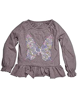 Baby Girls' Butterfly Peasant Tee (Baby)