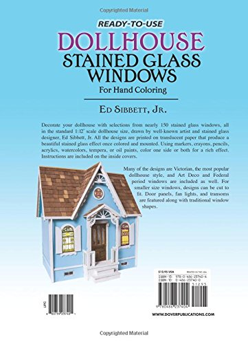 Ready To Use Dollhouse Stained Glass Windows For Hand Coloring Ed