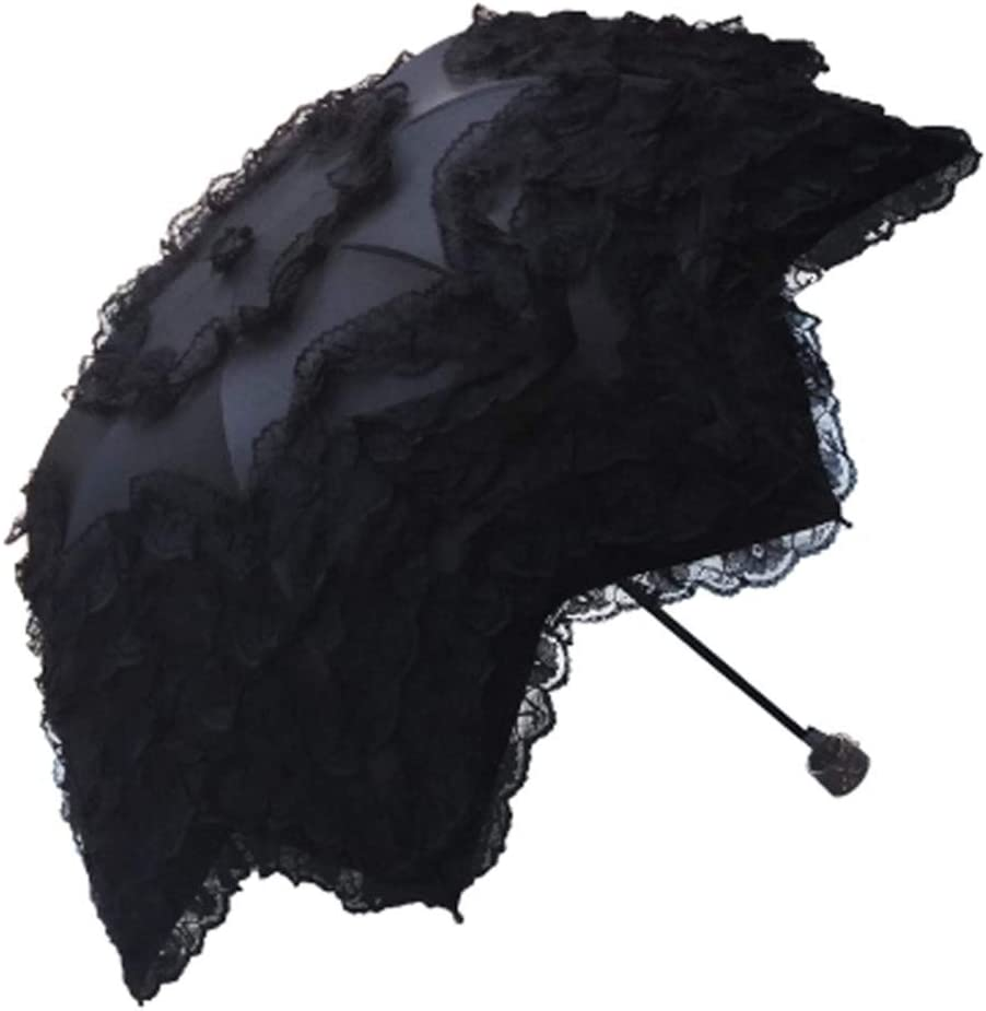 Ultraviolet-proof Lace Folding Black Beauty Umbrella Coating