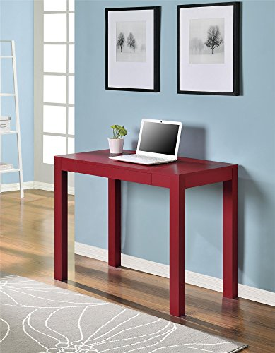 Altra Delilah Parsons Desk With Drawer Red Buy Online