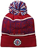NBA Los Angeles Clippers Men's Energy Stripe Cuffed Knit Pom, One Size, Red