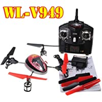 WLToys V949 UFO 4CH 2.4Ghz RC 4-Axis Xcopter Quadcopter Helicopter 3D With GYRO