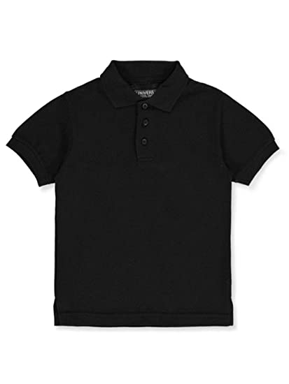 fc685150f Amazon.com  Children s Short Sleeve Pique Polo Shirt - Black