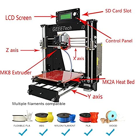 Panel Tech Geeetech 3d impresora LCD Reprap Prusa I3 Pro B MK8 ...