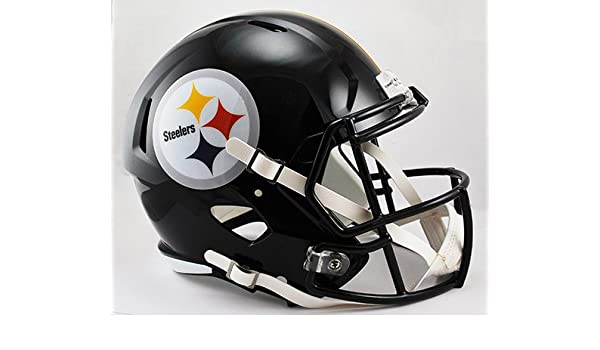 42197aa5 Amazon.com: NEW PITTSBURGH STEELERS RIDDELL FULL SIZE DELUXE SPEED REPLICA  FOOTBALL HELMET: Sports Collectibles