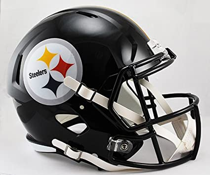 531080e6 Image Unavailable. Image not available for. Color: NEW PITTSBURGH STEELERS  RIDDELL FULL SIZE DELUXE SPEED REPLICA FOOTBALL HELMET
