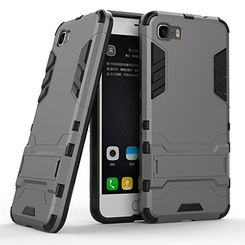 TPU/PC Shockproof Cover Case For Zenfone Max (Grey) - 7