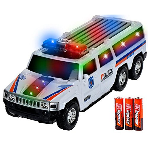 [Toysery SUV Police Car With Lights And Sirens Bump And Go Super 3 AA Battery Included] (Classic Old Chevy Trucks)