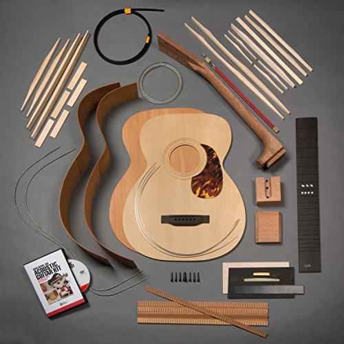 StewMac Build Your Own 1933 OM Acoustic Guitar Kit with Mahogany Back & Sides, Torrefied Top, Dovetail Neck