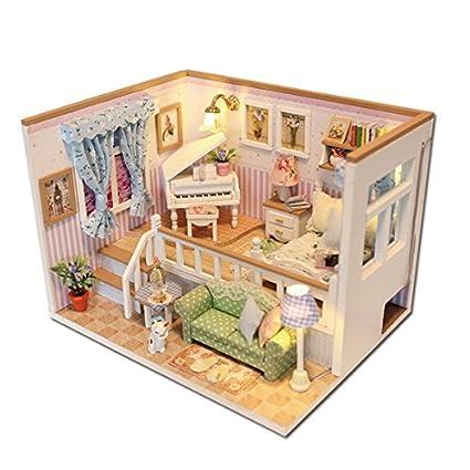 Amazon Com Bangbang Hoomeda M026 Diy Wooden Dollhouse Because Of