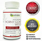 Best Horny Goat Weed - Marriage Support - Extra Strength All Natural Energy Booster - for Men & Women - Icariins & Maca Root - Libido & Performance Enhancer