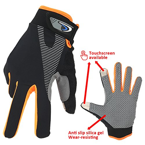SiFREE Dirt Bike Gloves and Mountain Bike Gloves, Motorcycle Accessories for Men Women,Full Finger Cycling Gloves Wind Stopper Light Silicone Gel for Road Cycling, Mountain Biking, Racing