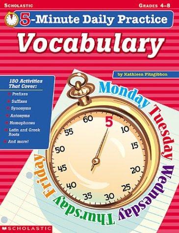 5-minute Daily Practice: Vocabulary (Grades 4-8) ebook