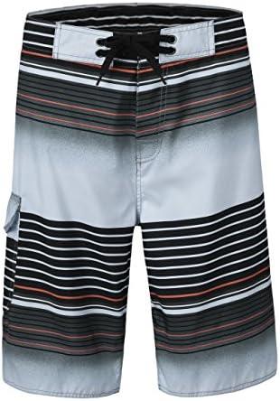 تنه های کوتاه شنای سریع و سریع مردانه پیراهن های کوتاه رنگ ساحل با راه راه مش