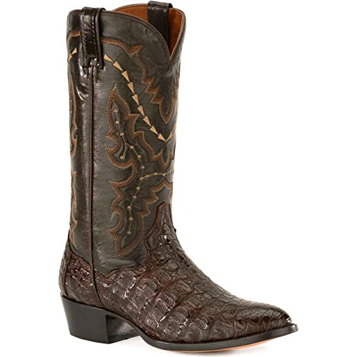 Dan Post Men's Bishop Caiman Tail Cowboy Certified Boot Square Toe Cognac 10 D