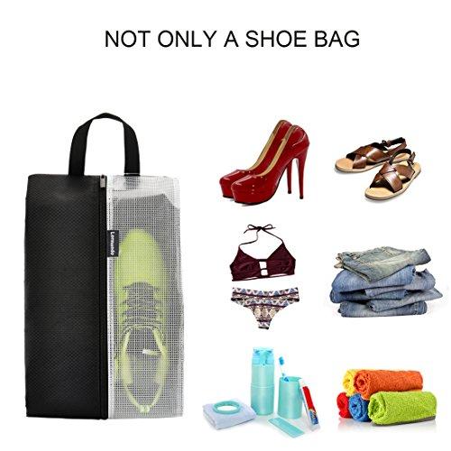 Lermende Travel Shoe Bags Waterproof Nylon Organizer Storage Tote Pouch 5pcs by Lermende (Image #3)