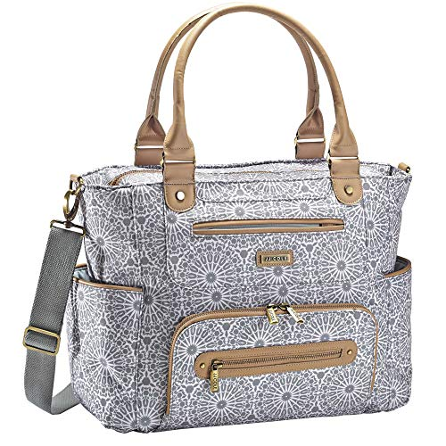 JJ Cole Caprice Diaper Bag Grey Moroccan