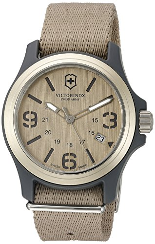 Victorinox Men's 241516 Original Analog Display Swiss Quartz Beige Watch