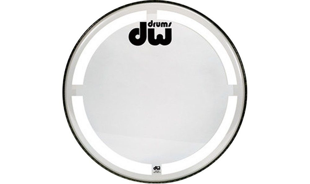 Bass Drum Heads 22 inch, Clear W/Coated O-ring