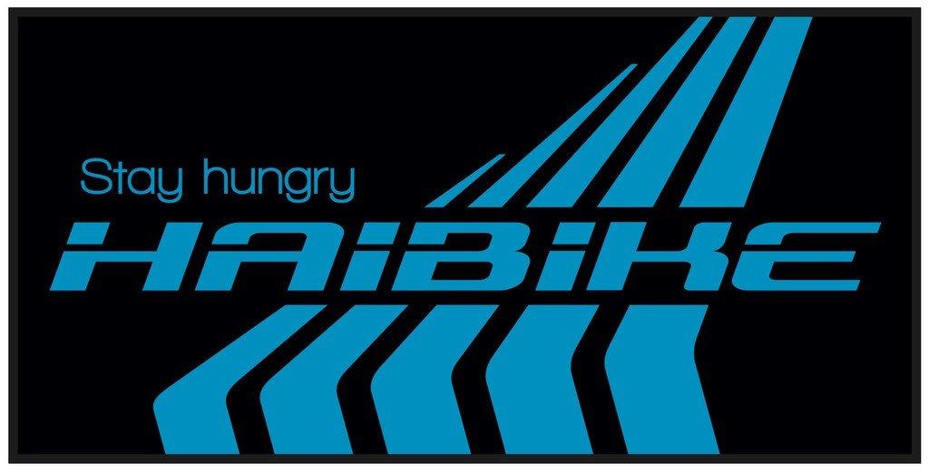 Badetuch Haibike - Gr. 180x100cm 2-farbig Einwebung schwarz/blau 9505250063