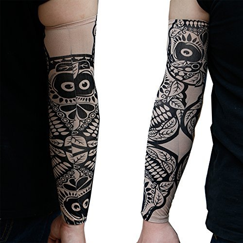 6 pcs fake temporary tattoo sleeves body art arm stockings for Tattoo sleeves amazon