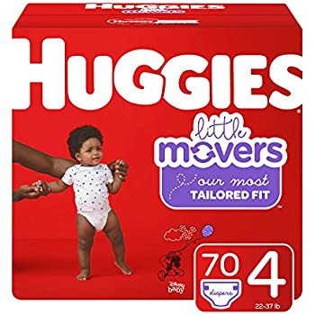 18ddb2398 HUGGIES Little Movers Diapers, Size 4 (22-37 lb.), 70 Ct, Giga Jr Pack  (Packaging May Vary)