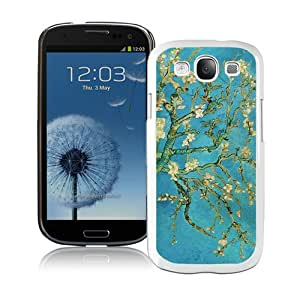 Vintage Van Gogh Flower White Abstract Design Custom Samsung Galaxy S3 I9300 Case