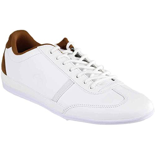 dba2a353b9dc8 Lacoste Misano Sport Athletic Mens Shoes Size 10 White Brown