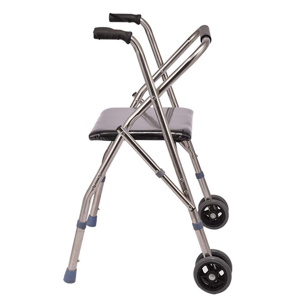 Folding Walker YX Andador Plegable, Altura Ajustable Andador con ...