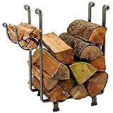 Enclume Rectangular Log Rack, Hammered Steel