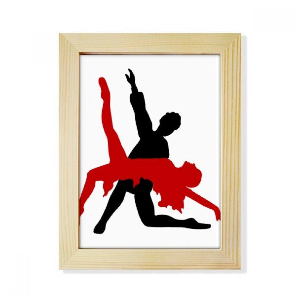 DIYthinker Art Duet Dance Social Dancing Desktop Wooden Photo Frame Picture Art Painting 6x8 inch