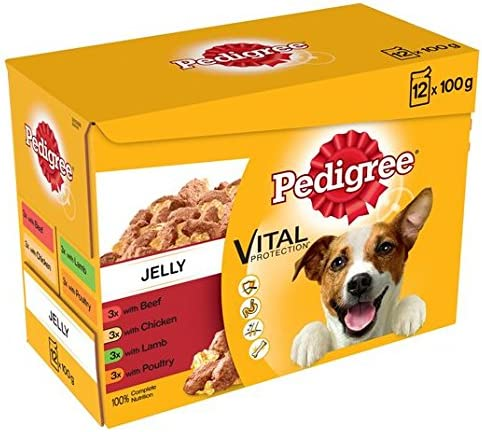 Pedigree Pouch Meat Selection in Jelly 12 x 100g – Dogs Corner