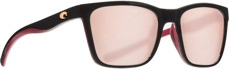 Copper 580P Polarized lens COSTA DEL MAR ANAA SUNGLASSES Black on Brown frame