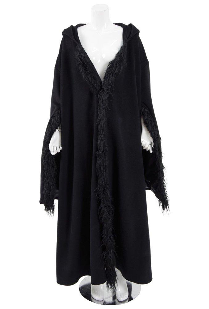 Xiao Maomi Womens Black Cape Cloak Halloween Cosplay Costume (Woman-M, Black)