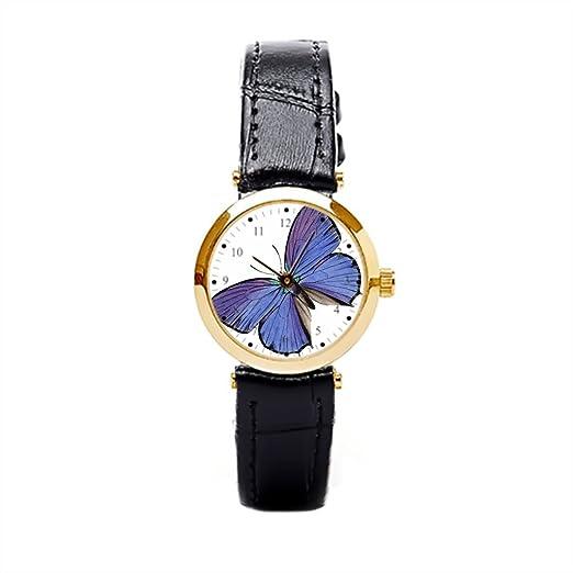 Reloj de pulsera tiendas colorido naturaleza Mujer Piel Reloj: Amazon.es: Relojes